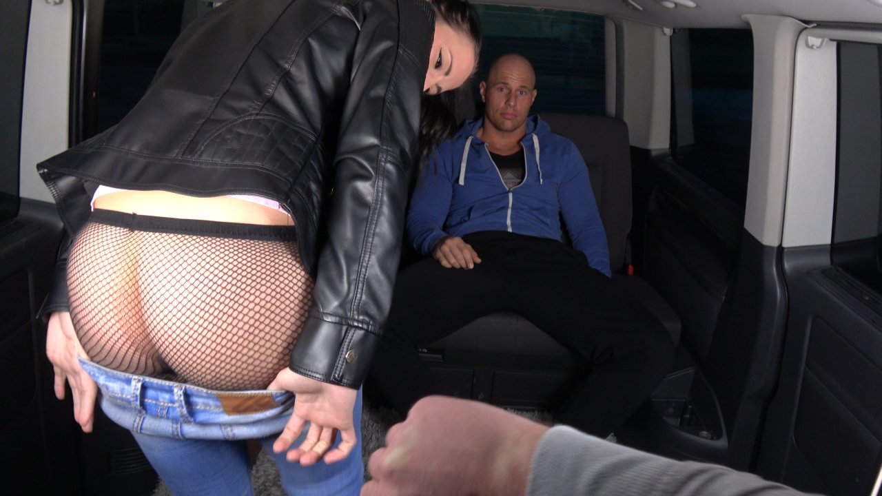 Bitch in stockings fails to resist the cock